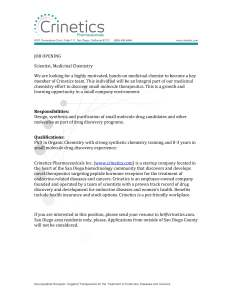 Crinetics chemist_1Q14-2