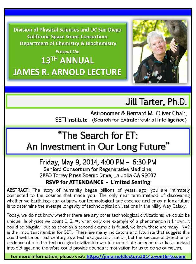 2014 Jim Arnold Lecture Flyer