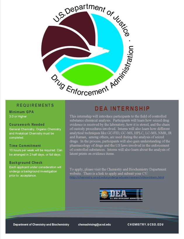 U.S. Department of Justice DEA Internship Opportunity
