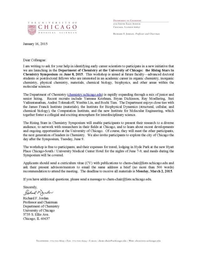 Colleague - symposium invite