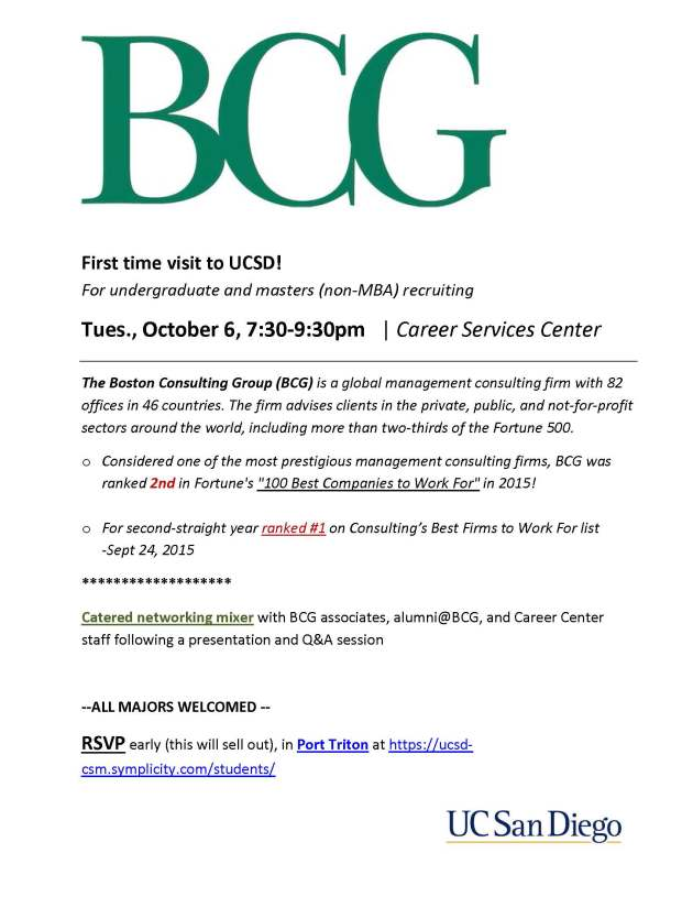 BCG recruiting visit