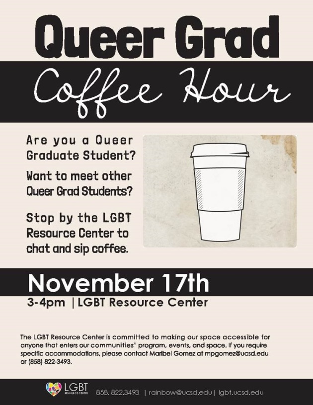 Queer Grad Coffee Hour