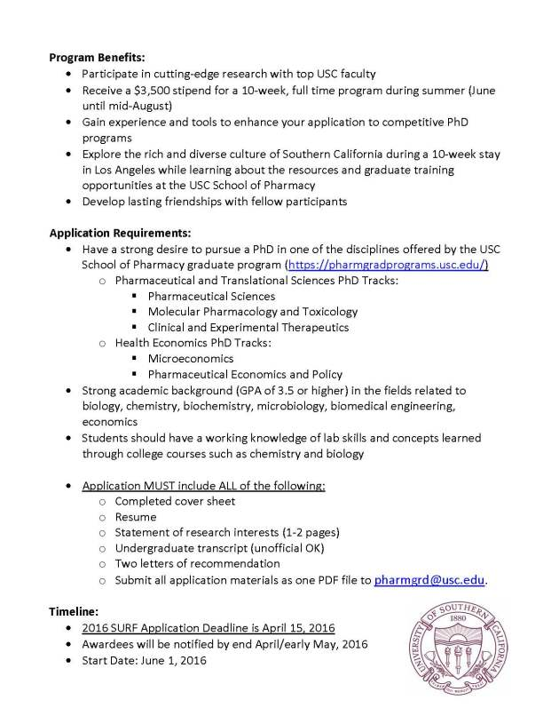 USC_School_Pharmacy_Summer Undergraduate Research Fellowships_SURF_FINAL_Page_2