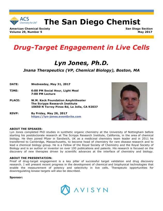 May 31 Lyn Jones Seminar