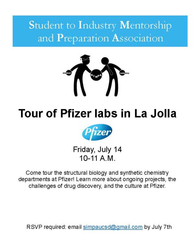SIMPA flier 062117 Pfizer lab tour