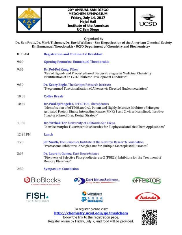 20th Annual MedChem Symposium Flyer 2017-05-22 final