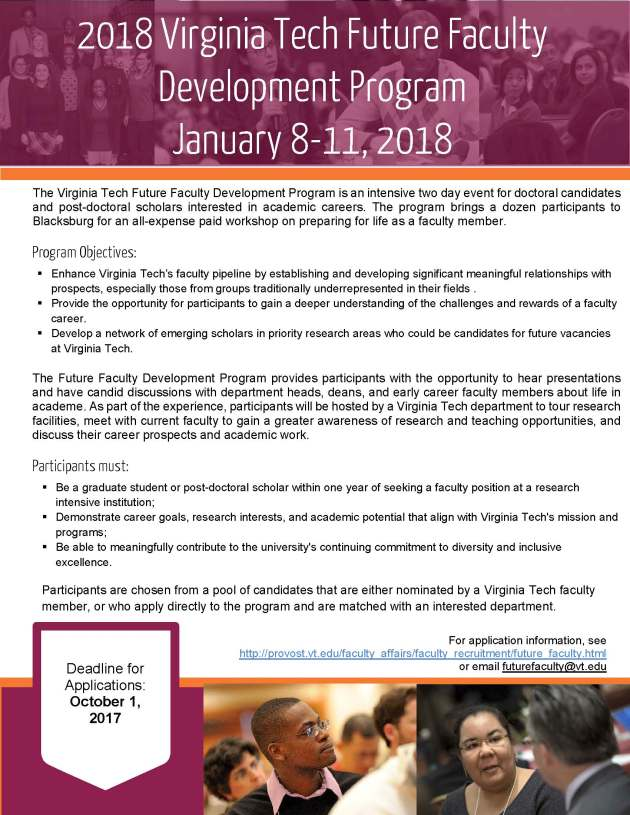 Virginia Tech Future Faculty Development Program 2018