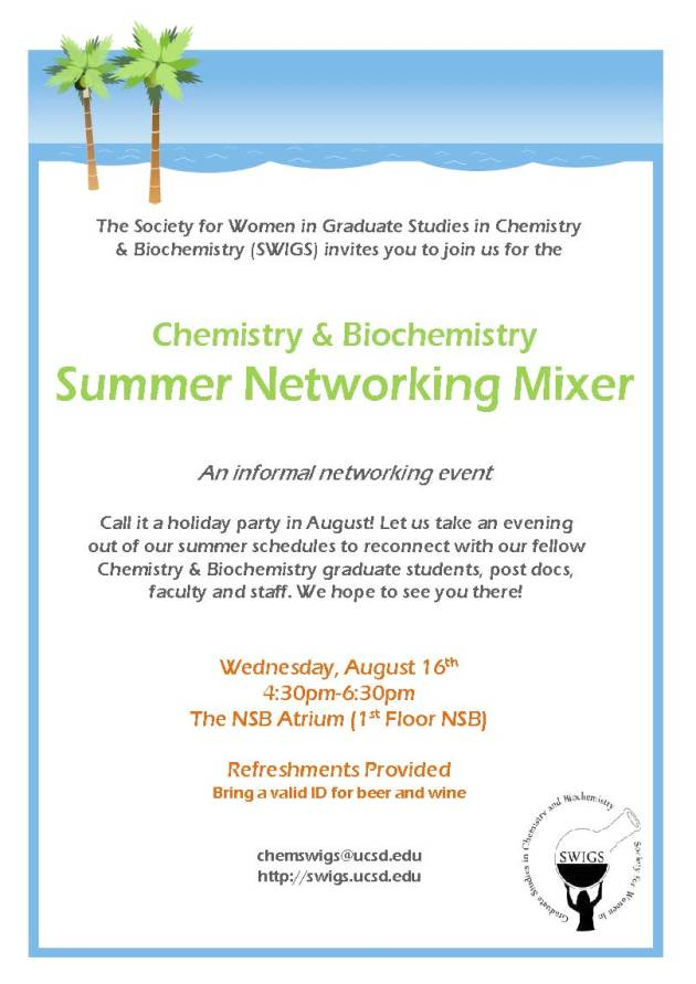 SWIGS Summer Networking Event Flyer