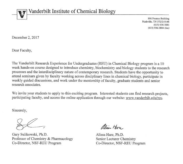 Summer Research Vanderbilt