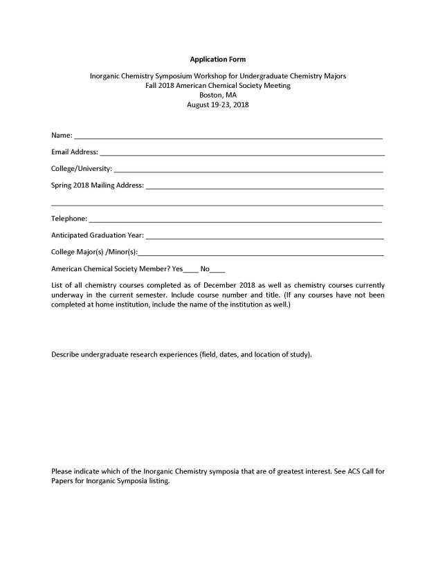 2018 Inorganic Chemistry Undergraduate Workshop Application_Page_2