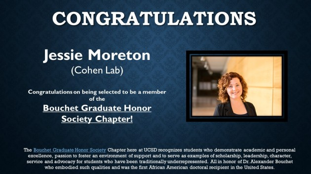 Jessie Moreton - Bouchet Graduate Honors Society Chapter Award