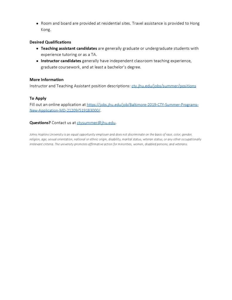 Johns Hopkins Employment >> John Hopkins Employment Opportunity Ucsd Chemistry